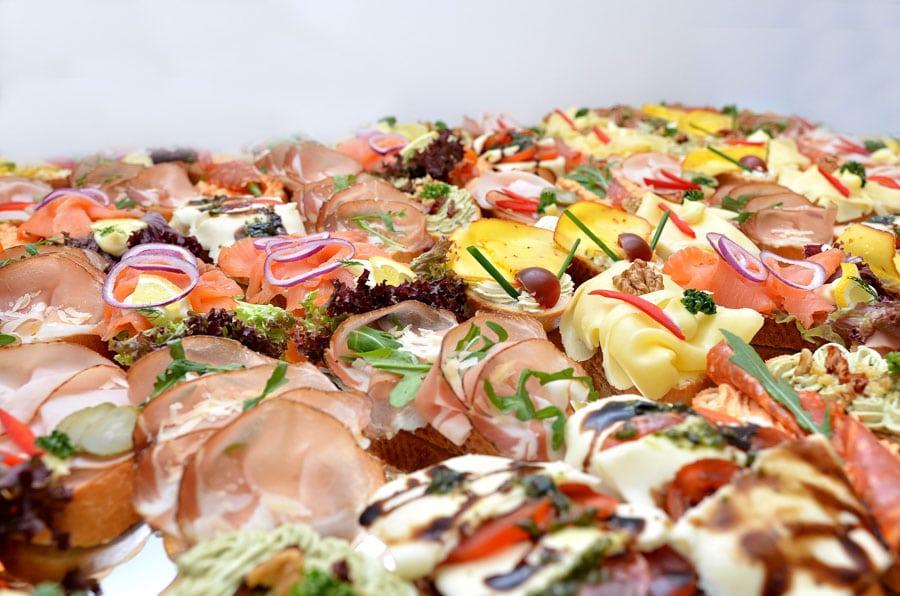 Fleischplatte für Fondue